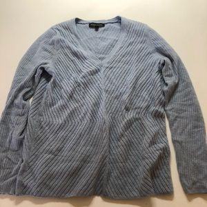 Banana Republic chevron knit light blue sweater